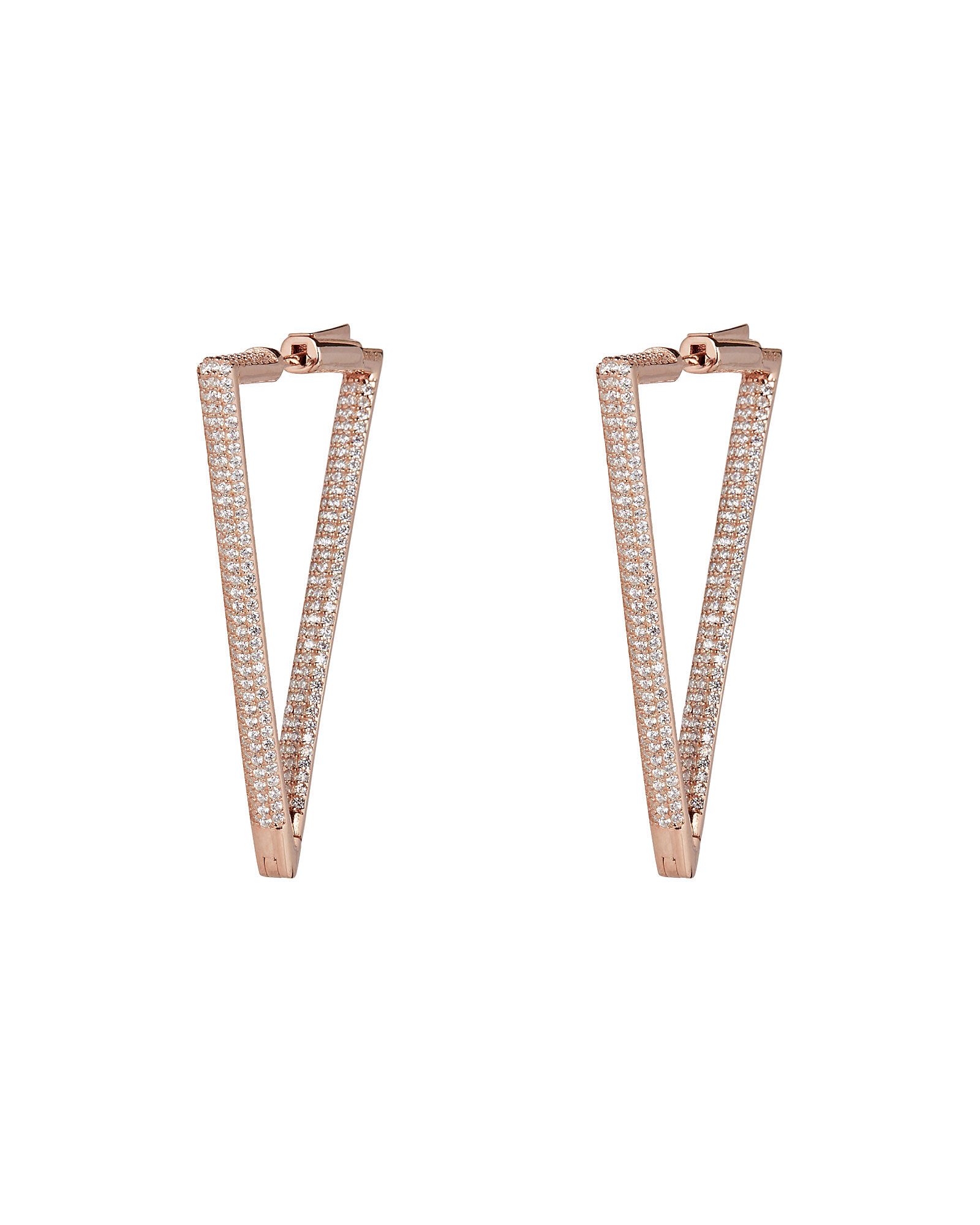 Bermuda Triangle Rose Gold Earrings, ROSE GOLD, hi-res