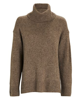 Imogen Cashmere-Silk Turtleneck Sweater, BROWN, hi-res