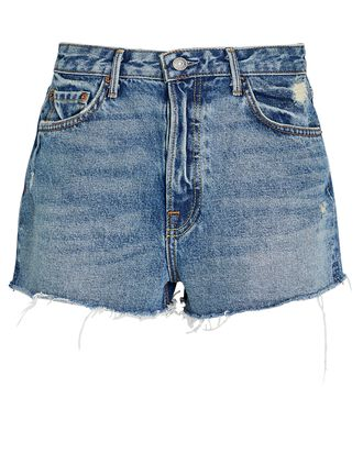 Cindy Cut-Off Denim Shorts, DENIM, hi-res