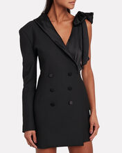 Asymmetric Double-Breasted Blazer Dress, BLACK, hi-res