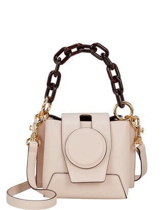 Daria Leather Box Bag, BLUSH, hi-res