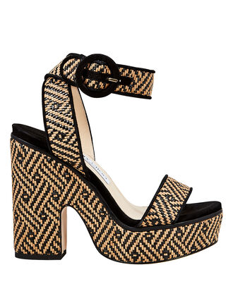 Aimee Platform Wedges, BEIGE/BLACK, hi-res