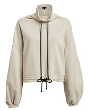 Contra Balloon Sleeve Terry Hoodie, IVORY, hi-res