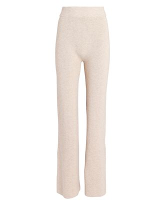 Lodi Flared Knit Pants, BEIGE, hi-res