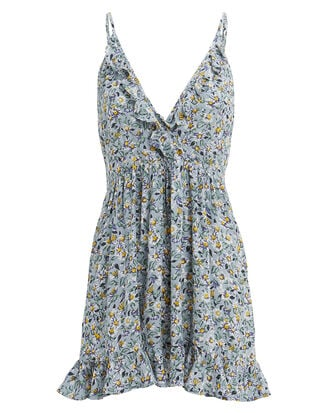 Daisy Amore Mini Dress, BLUE FLORAL, hi-res