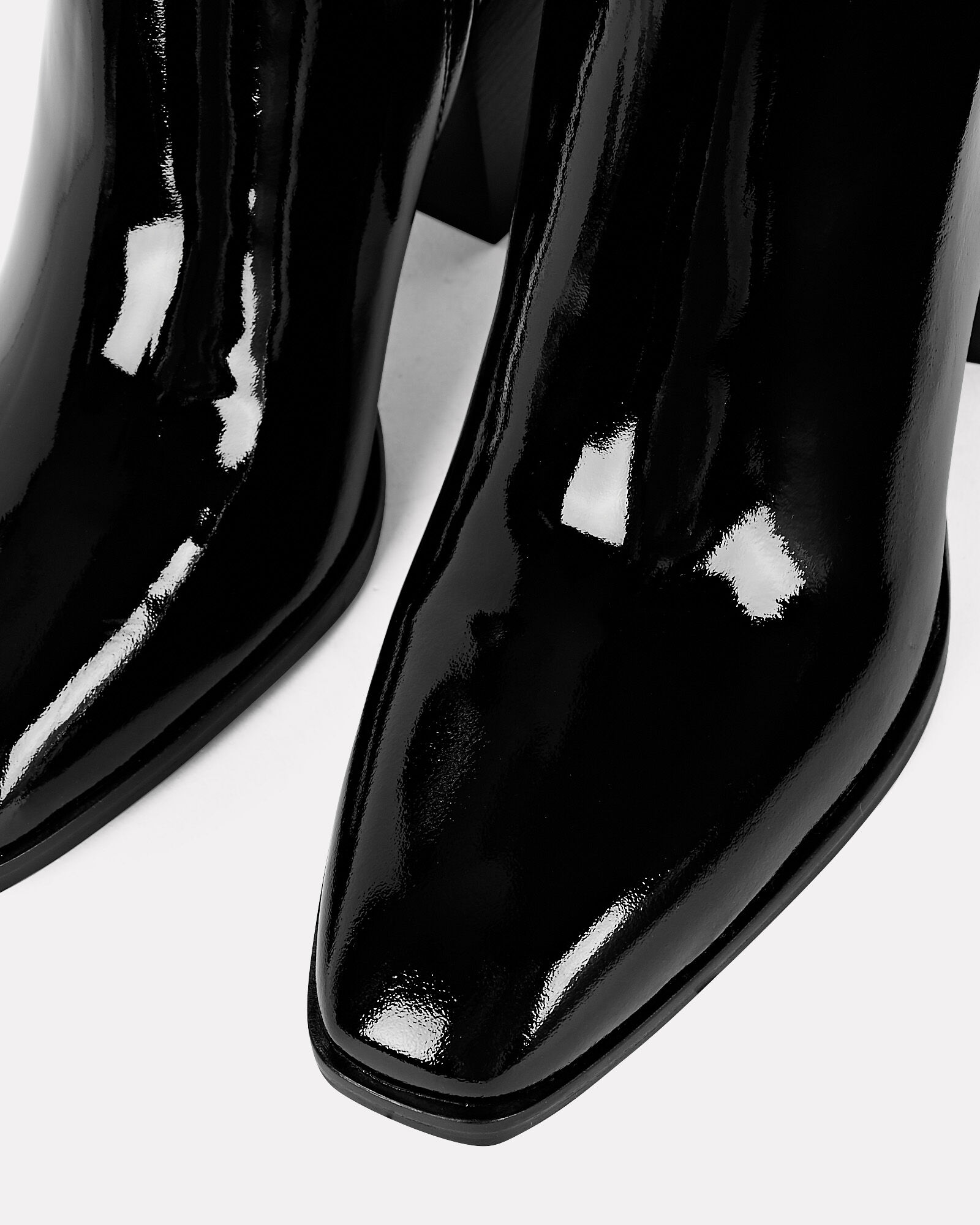 Leandra Patent Leather Ankle Booties, BLACK, hi-res