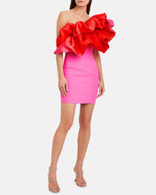 Finley Ruffled One-Shoulder Dress, ORANGE, hi-res