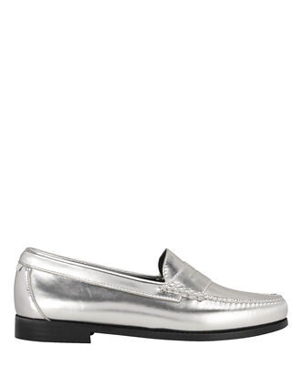 Whitney Metallic Loafers, SILVER, hi-res