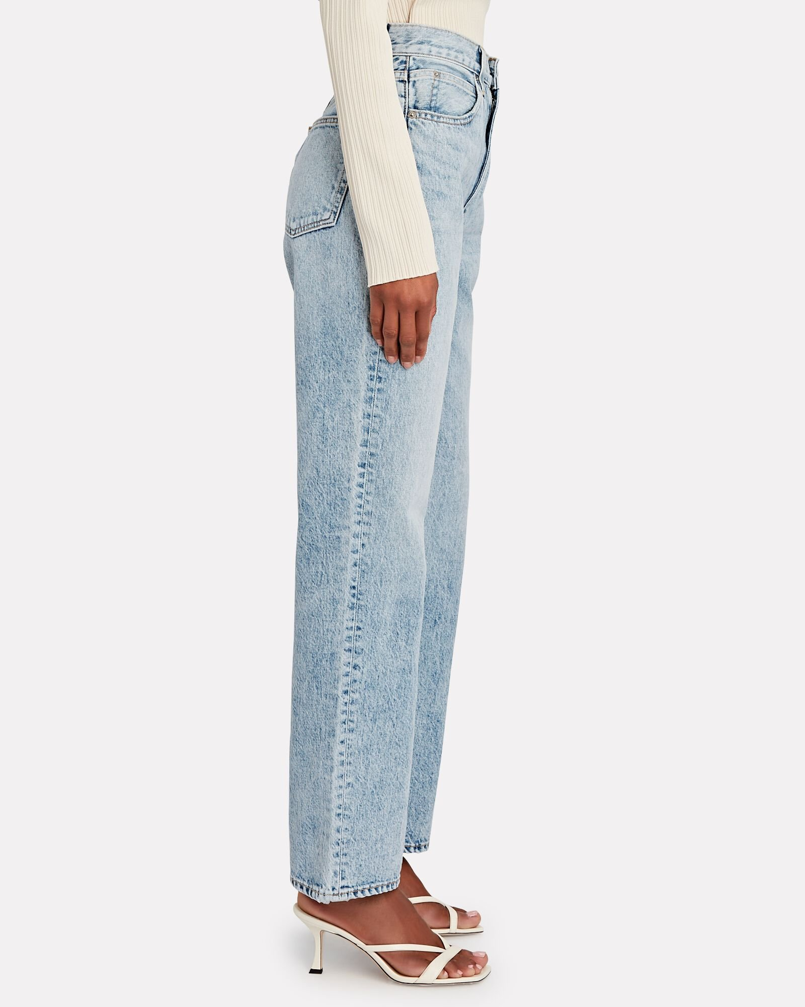 London High-Rise Straight-Leg Jeans, CROSBY, hi-res