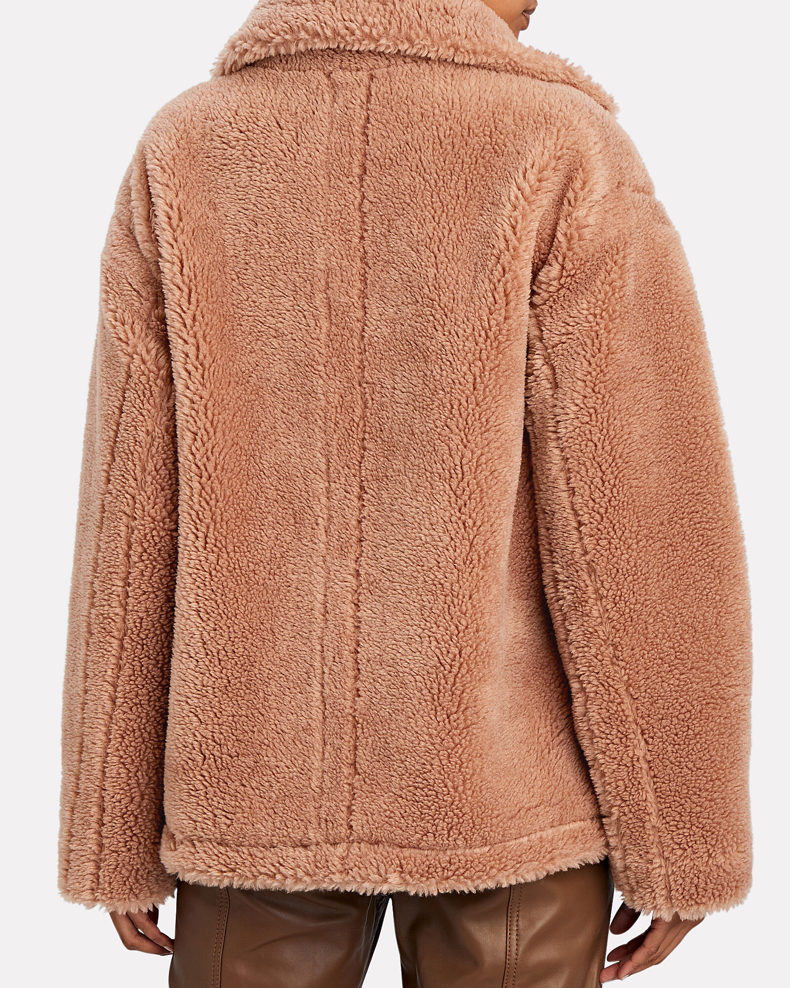 Mairna Teddy Faux Shearling Jacket, LIGHT BROWN, hi-res