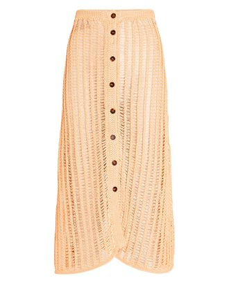 Vivienne Crochet Midi Skirt, PALE ORANGE, hi-res