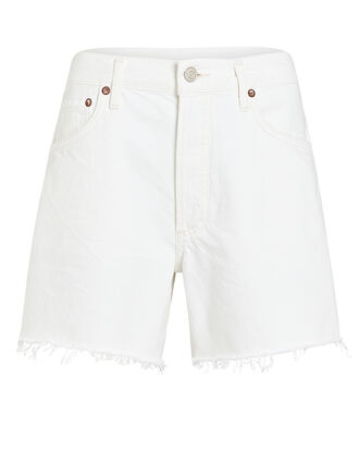 Reese Cut-Off Denim Shorts, TISSUE WHITE, hi-res