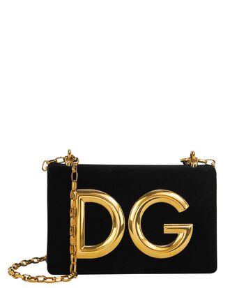DG Logo Pouchette Bag, BLACK, hi-res