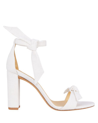 Clarita Block 90 Leather Sandals, WHITE, hi-res