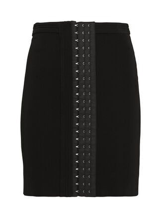 Corset Hooks Mini Skirt, BLACK, hi-res
