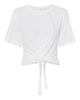 Jules Tie Back Tee, WHITE, hi-res