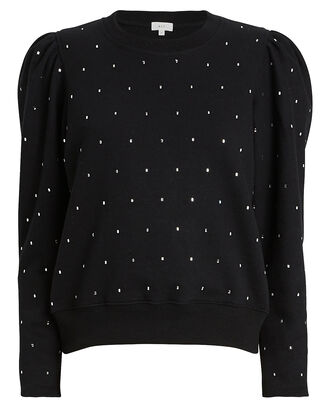 Saunders Crystal-Embellished Sweatshirt, BLACK, hi-res