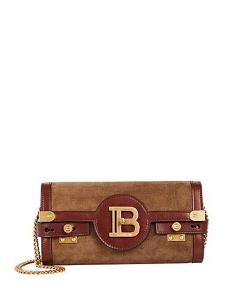 B-Buzz 23 Logo Suede Bag, BROWN, hi-res