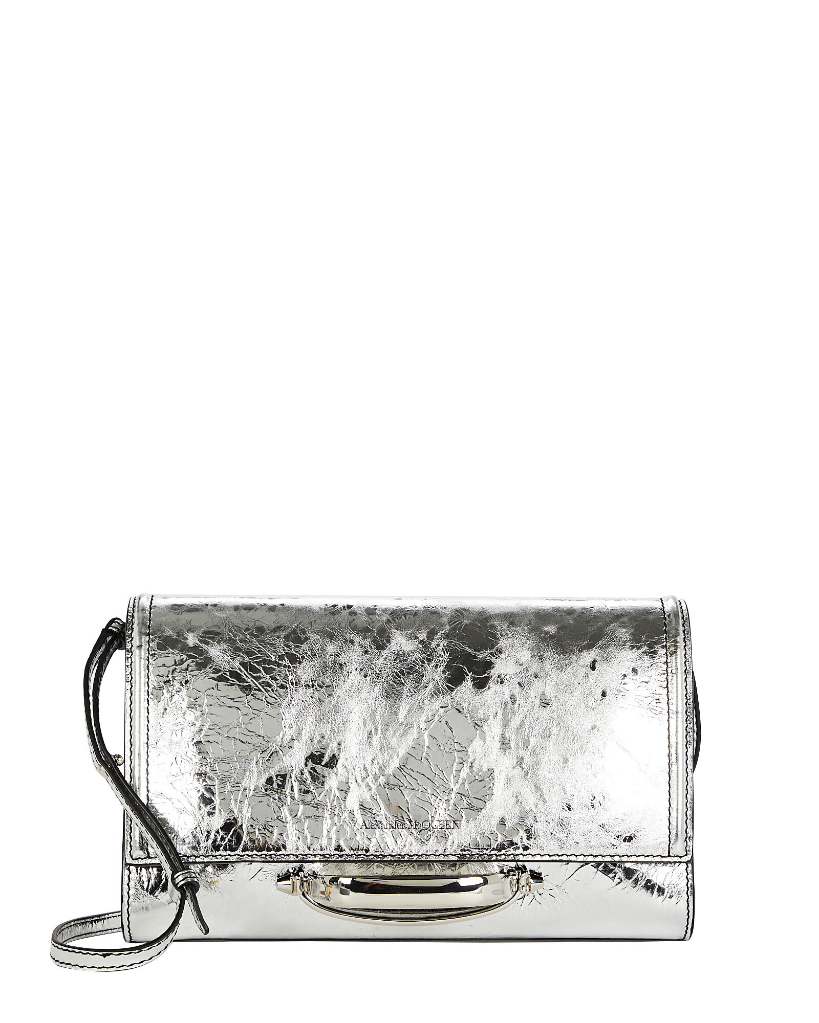 The Small Story Leather Bag, SILVER, hi-res