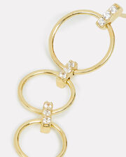 Triple Ring Drop Down Earrings, GOLD, hi-res