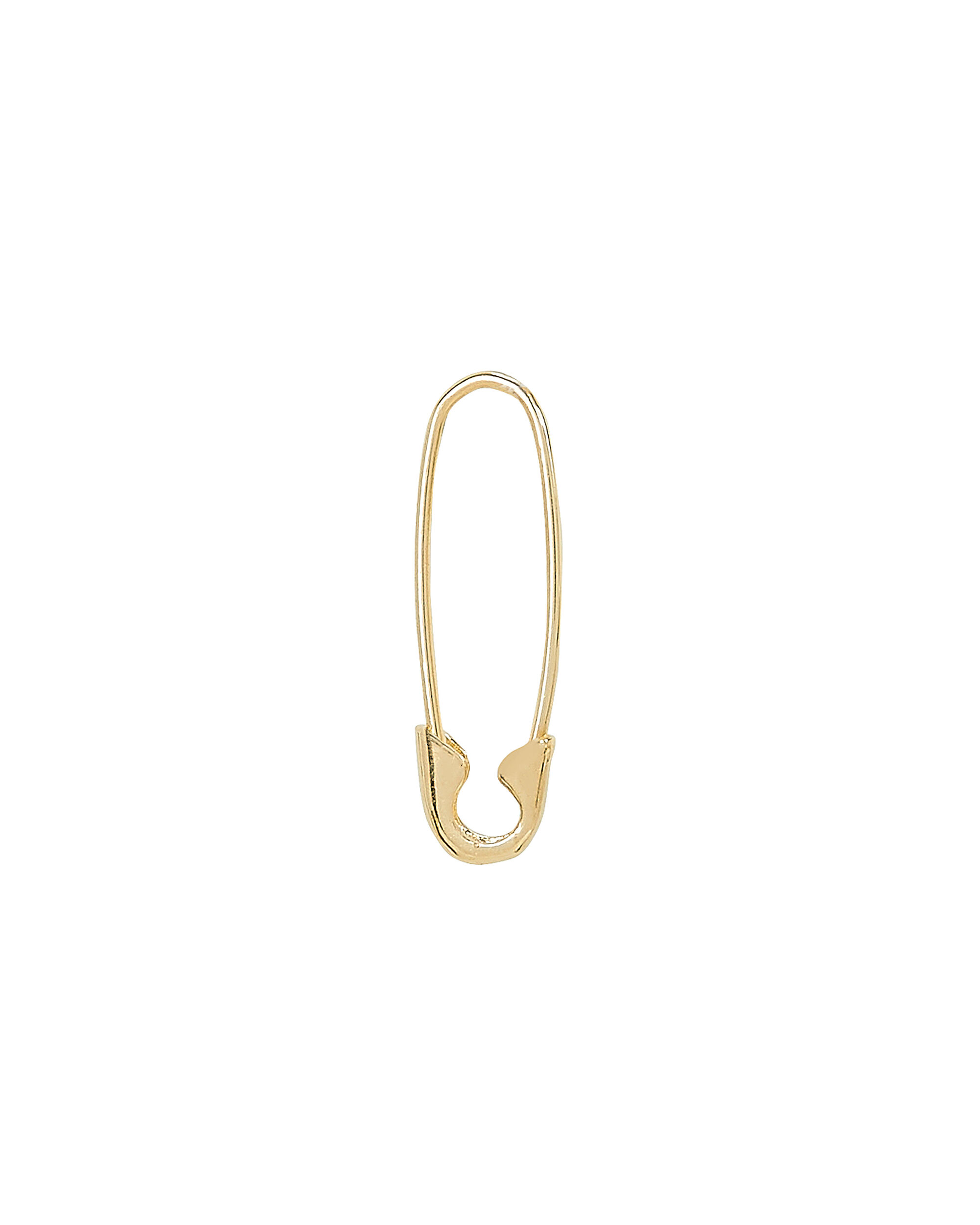 Safety Pin Single Earring, GOLD, hi-res