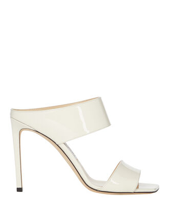 Hira 100 Stiletto Sandals, WHITE, hi-res