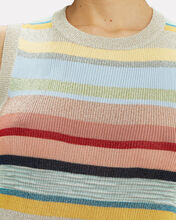 Rainbow Stripe Lurex Top, MULTI, hi-res