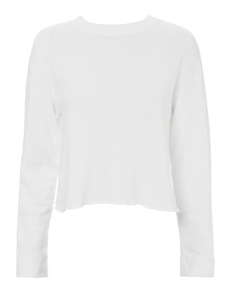 Mesh Back Sweatshirt, WHITE, hi-res
