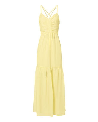 Chelsea Yellow Chiffon Maxi Dress, YELLOW, hi-res