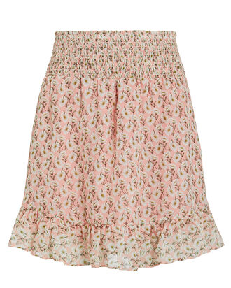Rena Floral Mini Skirt, PINK, hi-res