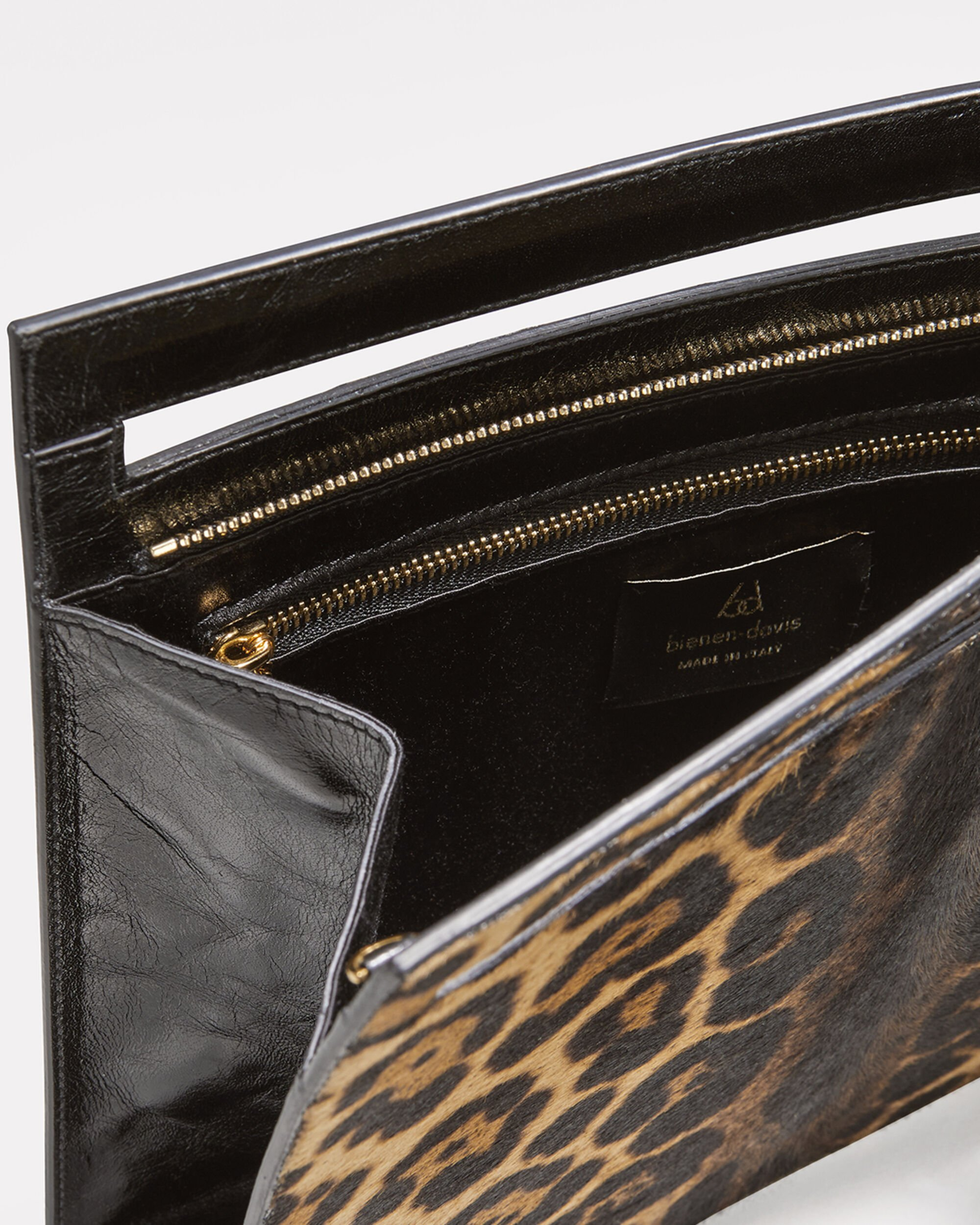 Max Leopard Clutch, BROWN, hi-res