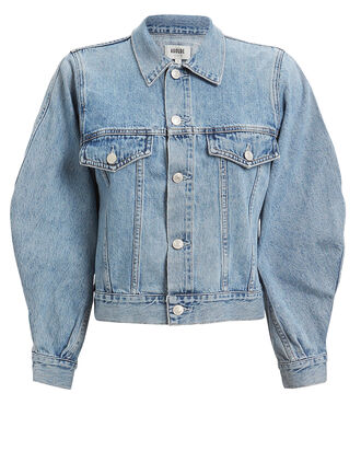 Alix Balloon Sleeve Denim Jacket, LIGHT BLUE DENIM, hi-res