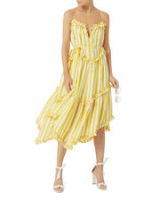 Lumino Striped Floating Dress, PATTERN, hi-res