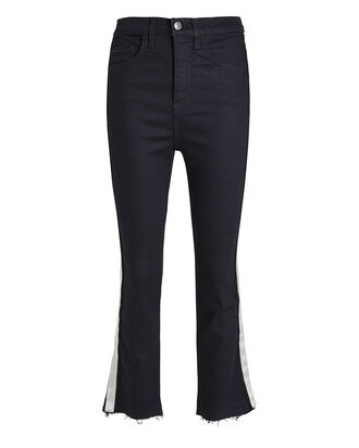 Carly Striped Kick Flare Jeans, DARK WASH DENIM, hi-res