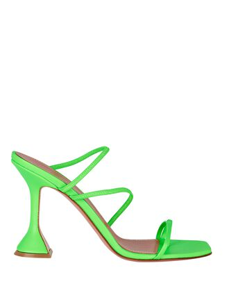 Naima Strappy Leather Sandals, GREEN, hi-res
