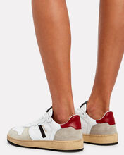 80's Low-Top Basketball Sneakers, WHITE/BEIGE, hi-res