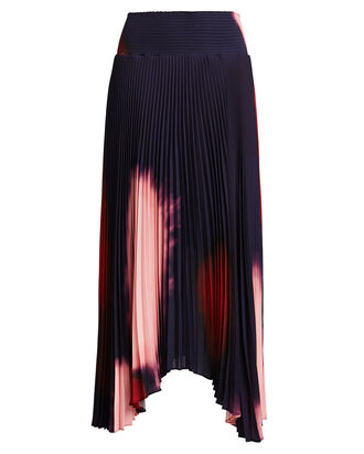 Sonali Pleated Tie-Dye Skirt, MIDNIGHT/OMBRE, hi-res