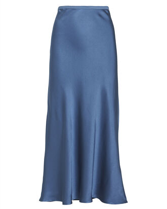 Bar Silk Midi Skirt, BLUE-MED, hi-res