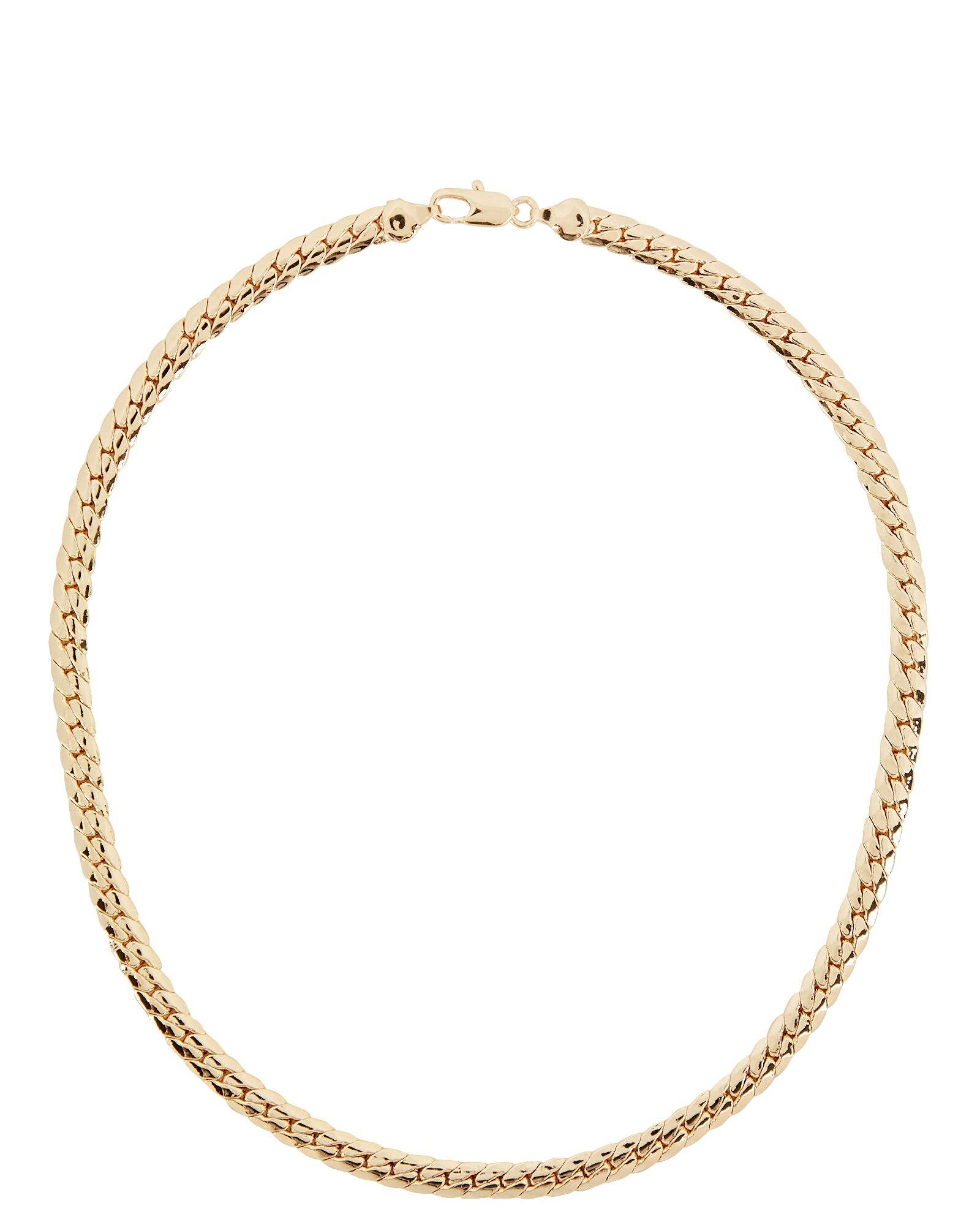 Gwen Curb Chain Necklace, GOLD, hi-res