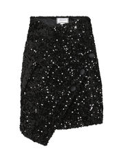 Sequin-Embellished Mini Skirt, BLACK, hi-res