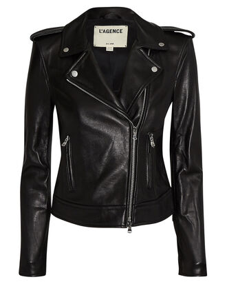 Leather Moto Jacket, BLACK, hi-res