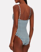 Manon Gingham One-Piece Swimsuit, BLUE-MED, hi-res