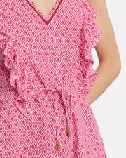Liza Ruffle Playsuit, RED/PINK, hi-res