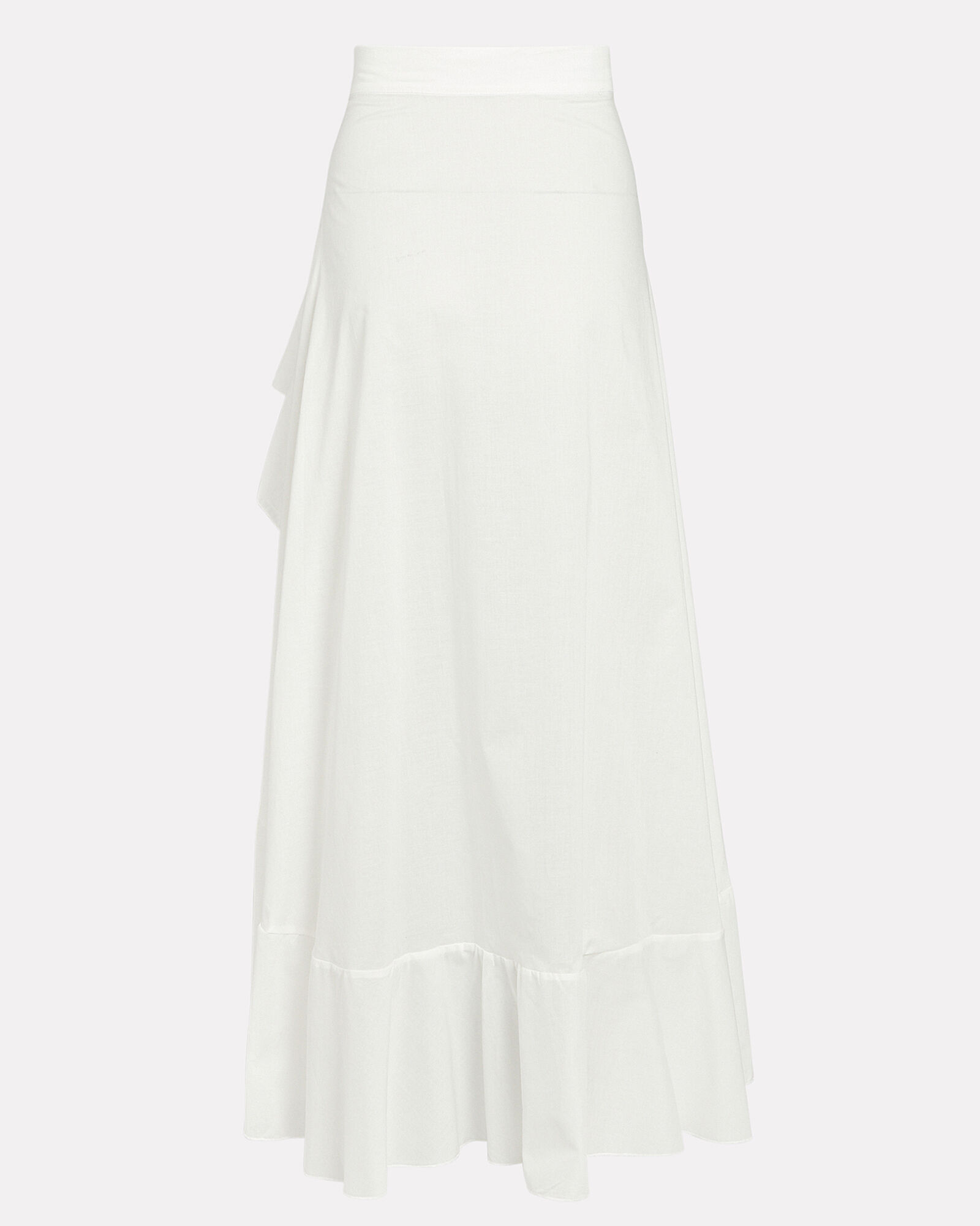 Flamenco High-Low Skirt, WHITE, hi-res
