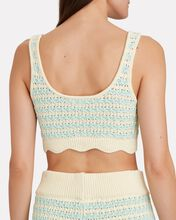 Lizzy Cropped Knit Tank Top, GREEN-LT, hi-res