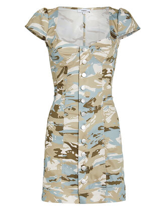 Gigi Camo-Print Mini Dress, BEIGE/CAMO, hi-res
