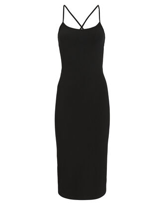 Marta Ribbed Dress, BLACK, hi-res