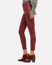 Margot Berry Coated High-Rise Ankle Skinny Jeans, RED-DRK, hi-res