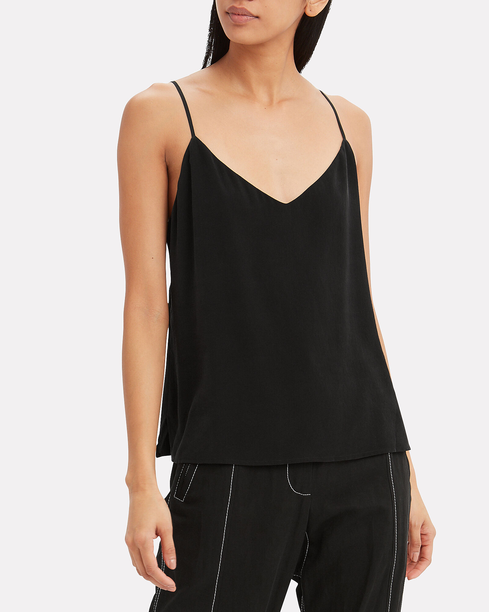 Jane Silk Camisole, BLACK, hi-res