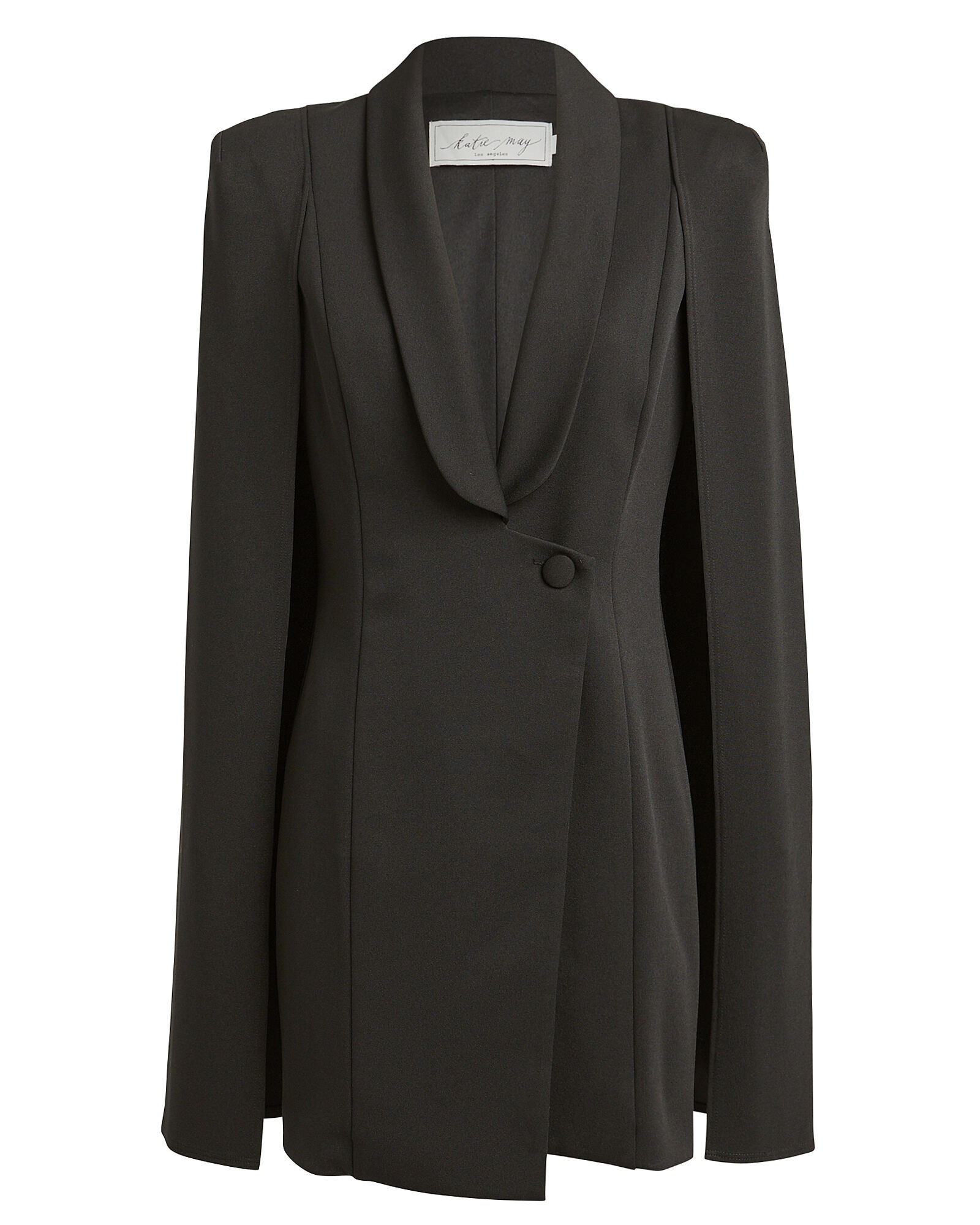 Boss Lady Cape Dress, BLACK, hi-res